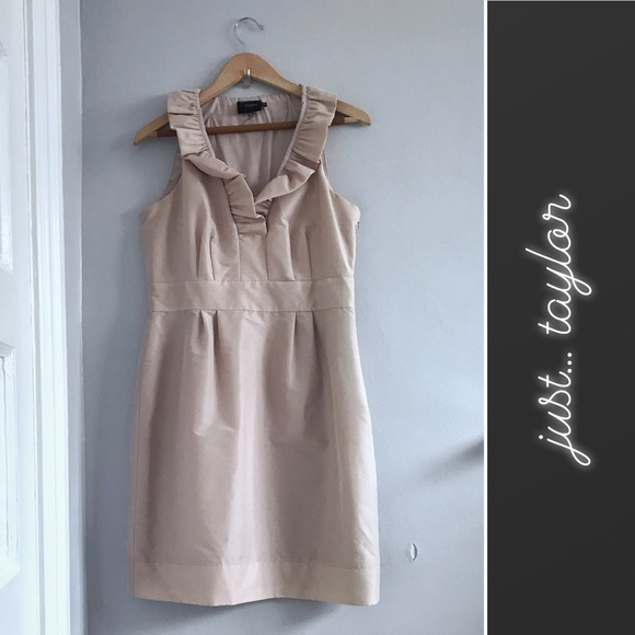 Just...Taylor Dresses & Skirts - JUST... TAYLOR Champagne Ruffled Cocktail Dress 10
